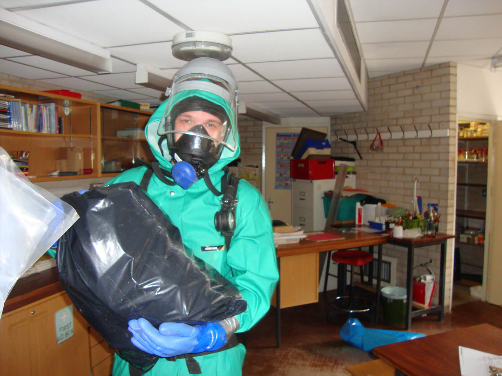 Technician in Personal Protective Equipment
