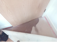 wet underlay in master bedroom