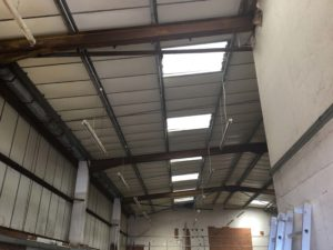 post clean of factory ceiling